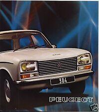 PEUGEOT 304  berline et break ,  catalogue  de juillet 1974