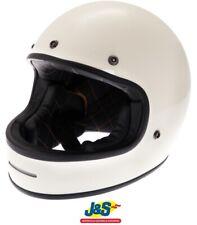 Force Blitzfibre FullFace Motorcycle Helmet Retro Classic Vintage White SRP £200