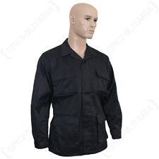 US BDU Field Jacket - Black All Sizes Army Battle Dress Uniform Cotton Top