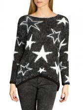 CASPAR Damen kuscheliger Pullover Strickpullover Pulli mit Sternen Muster NEU