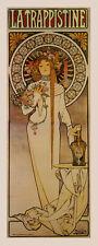 Mucha La Trappistine Lady Flowers Liquor Vintage Poster Repro FREE S/H