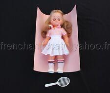 O518 POUPEE TENIS JE T'AIME  neuve robe fille baskette made in spain 31 cm