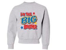 I'm The Big Brother Kids Crewneck Sweatshirt 6-8=SM To 18-20=XL THE BEST