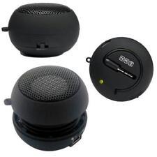 For T-MOBILE PHONES - WIRED BLACK PORTABLE UNIVERSAL LOUD SPEAKER MULTIMEDIA