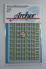 Archer 1/35 German WWII Turret Numbers Medium Tall (Yellow w/Black Ou) AR35040YB