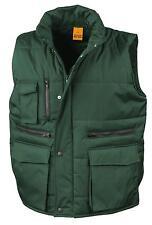Result BOTTLE FOREST DARK GREEN Workguard Padded Gilet Vest Bodywarmer S-3XL