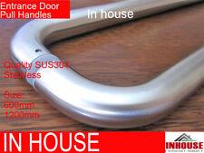 2x Entrance Door Handles,Satin Stainless Steel ,size:600,1200mm