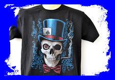 Smoking Skull, 666, t-shirt, sobre tamaño, m-5xl, plus Size, Heavy Cotton, Gothic