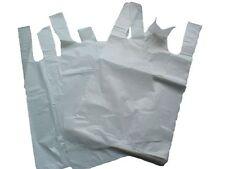 """White Plastic Vest Carrier Bags 10x15x18"""" Choose Qty"""
