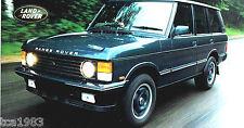 Range Rover OVERFINCH 570 HSE Especificaciones Hoja / FOLLETO: 1998