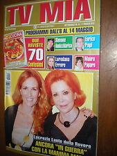 Tv Mia.LUCREZIA LANTE DELLA ROVERE & MARIA RIPA DI MEANA,FRANCESCA INAUDI,aaa