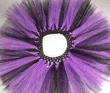 Purple Black Witch Halloween Costume Tutu Skirt Party Dress Up 1 2 3 4 5 6