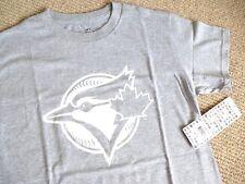 S L XL XXL Official TORONTO BLUE JAYS Grey OFFICIAL MLB Baseball T Shirt Canada