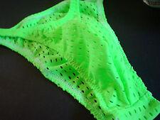 Men Newest Colors Narrow side Open Spandex Pouch Bikini Brief  USA s m l or xl