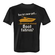 Boot fahren Herren T-Shirt Spruch Geschenk Idee Bootfahrer Kapitän Angler Lustig