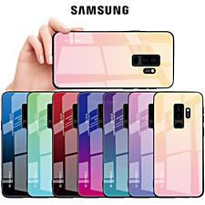 COVER per Samsung Galaxy S9 S8 / Plus Gradient Glass con RETRO VETRO TEMPERATO