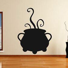Gorgogliamento Calderone Cook Pentola Streghe Halloween Wall Art Adesivo (AS10313)
