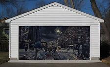 3d black city garage door murals wall print decal wall deco aj wallpaper au
