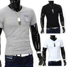 Hombres camiseta de manga corta Polo Stretch ajuste delgado Clubwear camisa