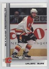 2000-01 In the Game Be A Player Memorabilia #138 Valeri Bure Calgary Flames Card