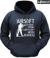 Sudadera con Capucha para Hombre Airsoft incluso paintballers necesita héroes con capucha de piantball Negro
