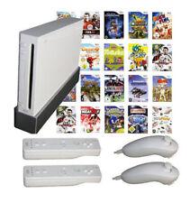 Nintendo Wii Konsolen Set inkl. Remote, Nunchuk und Spiele