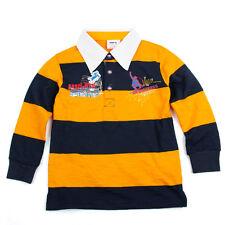 New boys long sleeve navy blue / yellow stripe top shirt tshirt tee clothing