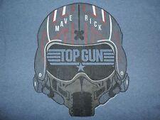 Top Gun T-Shirt Maverick Helmet Retro 80's Tee Tom Cruise Movie Film Classic