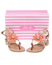 Sandali Sofia M. Sandals Shoes -45% Pelle MADE IN ITALY Donna Arancione SOFIA-