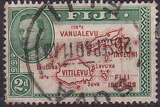 """Fiji. 1938 sg254 RARA 2D """"mappa delle Figi"""" utilizzato."""