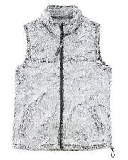 Sherpa Fleece,Women's, KIDS, Zip UP VEST JACKET COAT GRAY