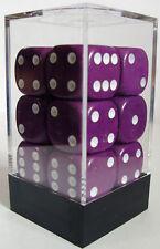 Paquete De 12 Opaco púrpura Dados - 6 Lados & 15mm Lados!!