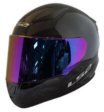LS2 FF353 RAPID FULL FACE MOTORCYCLE HELMET GLOSS BLACK + PURPLE IRIDIUM VISOR