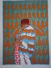 AMADO PENA Yaqui en Palm Springs 1982 SERIGRAPH SW Art
