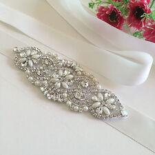 Rhinestone Bridal Sash Crystal Wedding Sash Belt Rhinestone Ribbon Pearl Belt