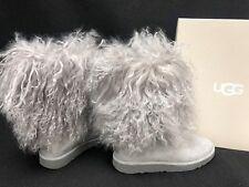 UGG Australia Lida Seal Grey Gray LONG MONGOLIAN SHEEPSKIN CUFF BOOTS 1017516