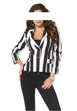 Laura Scott Blazer NEU Gr.32,34,36,38,40 Damen Jacke Schwarz/Weiß Streifen