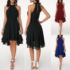 Plus Size Women Sleeveless Chiffon Dress Knee Length Party Cocktail Prom dress