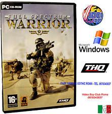 FULL SPECTRUM WARRIOR PC CD ROM WINDOWS NUOVO IN VERSIONE ITALIANA PAL ITALIA