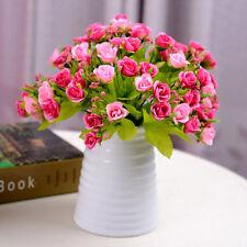 21 Heads Artificial Rose Fake Silk Flower Leaf Bridal Home Wedding Party Decor