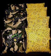 Camo Bandana Country with John deere fabric 8 ACA Regulation Corn Hole Game Bags
