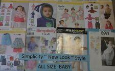 C Simplicity ~ New Look ~ Baby Patterns 7-24 LBS ~ U-PICK ~ 13+ Listed 2428 NIP