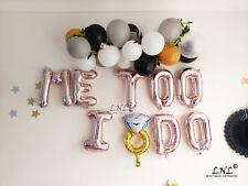 Rose Gold Balloons Mr Mrs Wow Love Engaged I Do Lemonade Cake Letters Gold Silve