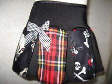 New Black white Red Pirates Tartan Check vampire Skulls Party Skirt Gothic Rock