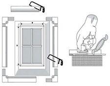 Fliegengitter mit Alu Rahmen Insektenschutzfenster 5 Größe zu wählen Weiß Braun