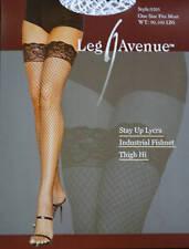 Leg Avenue Fashion Industrial Fishnet White Thigh-High Stockings One Size