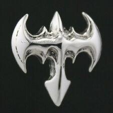Bat BATMAN Earrings 925 Sterling Silver Mens Biker Punk Stud Earrings 8M012A