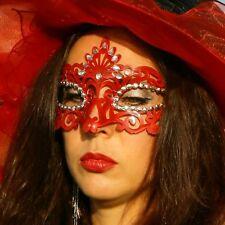 SEXY MASQUE POUR LES YEUX vénitien Masque faciale fête carnaval Rouge Noir Neuf