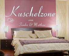 Wandtattoo Schlafzimmer++Kuschelzone mit Wunschnamen personalisiert++Wand Spruch
