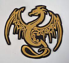 Parche Bordado Celta Dragon Motif Chaqueta/Motif 4 Tamaños Muchos Colores